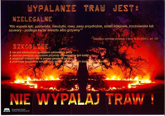 Wypalanie traw nielegalne i szkodliwe