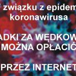WAŻNA INFORMACJA – sklep wędkarski zamknięty, opłaty przez internet